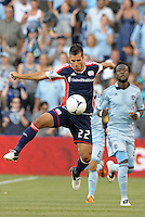 Benny Fellhaber (22) forward New England Revolution in action..Sporting Kansas City and New England Revolution played to a 0-0 tie at LIVESTRONG Sporting Park, Kansas City, KS.