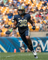 Pitt defensive back Ryan Lewis. The Pitt Panthers football team defeated the Youngstown State Penguins 45-37 on Saturday, September 5, 2015 at Heinz Field, Pittsburgh, Pennsylvania.