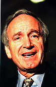 United States Senator Tom Harkin (Democrat of Iowa) speaks to reporters after the U.S. Senate Impeachment Trial session in the U.S. Capitol in Washington, D.C. on January 21, 1999..Credit: Ron Sachs / CNP