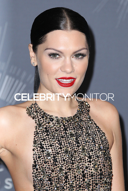 INGLEWOOD, CA, USA - AUGUST 24: Recording artist Jessie J poses in the press room at the 2014 MTV Video Music Awards held at The Forum on August 24, 2014 in the Inglewood, California, United States. (Photo by Xavier Collin/Celebrity Monitor)