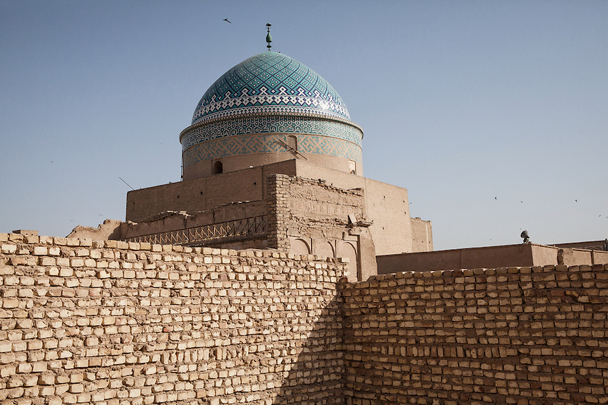 Bogheh-ye Sayyed Roknaddin, the tomb for Sayyed Roknaddin Mohammed Qazi in Yazd. It was built around 700 years ago.