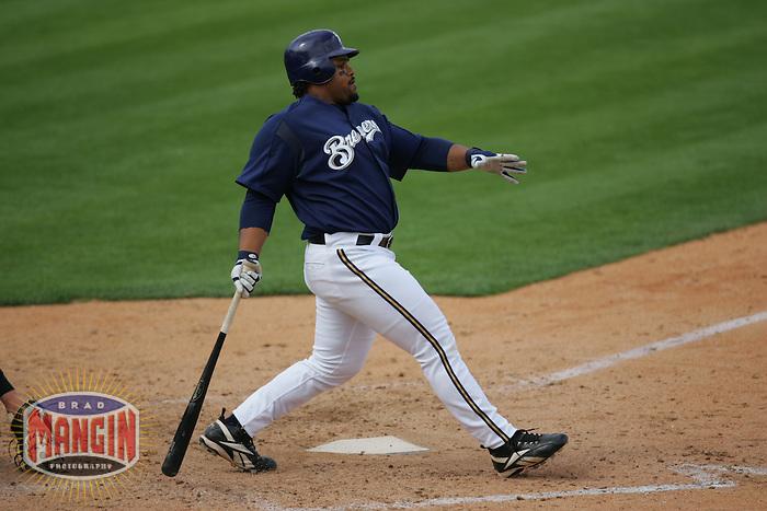 Prince Fielder. Baseball: Chicago White Sox vs Milwaukee Brewers. Maryvale, AZ 3/23/2005 MANDATORY CREDIT: Brad Mangin/Sports Illustrated