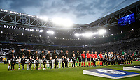 Football Soccer: UEFA Champions League semifinal second leg Juventus - Monaco, Juventus stadium, Turin, Italy,  May 9, 2017. <br /> Juventus and Monaco teams line up prior to the start of the Uefa Champions League football match between Juventus and Monaco at Juventus stadium, on May 9, 2017.<br /> UPDATE IMAGES PRESS/Isabella Bonotto