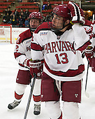 Tyler Moy (Harvard - 2), Greg Gozzo (Harvard - 13) - The Harvard University Crimson defeated the Princeton University Tigers 3-2 on Friday, January 31, 2014, at the Bright-Landry Hockey Center in Cambridge, Massachusetts.