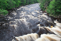 The Brule River, a Lake Superior tributary, at Judge C.R. Magney State Park in northern Minnesota.