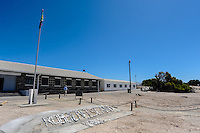 Robben Island in Table Bay off the coast of Cape Town, South Africa, most known for its apartheid prison.