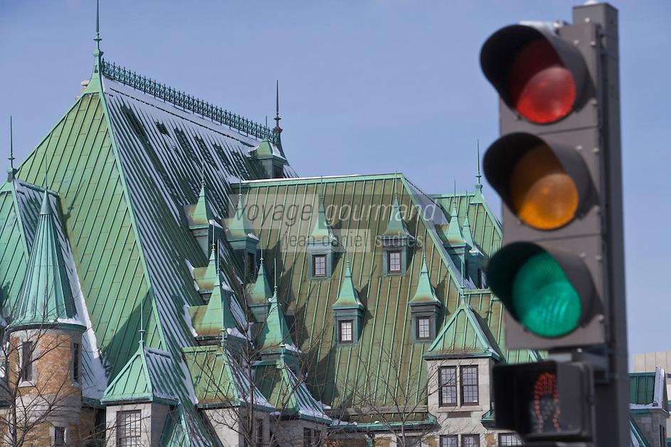 Amérique du Nord, Canada, Québec,  Québec: La Gare du Palais  / North America, Canada, Quebec, Quebec city: Gare du Palais ('Palace Station') is a train and bus station