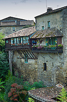 Traditional French quaint town of Castelmoron d'Albret in Bordeaux region, Gironde, France