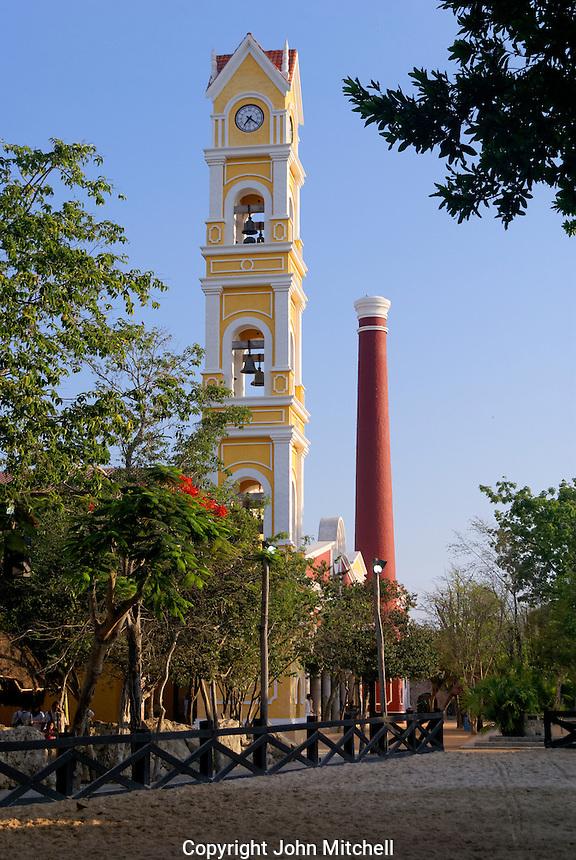 Rep;ica of a henequen hacienda at Xcaret park, Riviera Maya, Quintana Roo, Mexico