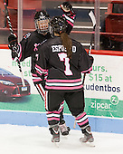 Kelly Wallace (NU - 5), Brittany Esposito (NU - 7) - The Northeastern University Huskies defeated the visiting Providence College Friars 8-7 on Sunday, January 20, 2013, at Matthews Arena in Boston, Massachusetts.