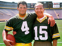 Brett Favre and Bart Starr in Lambeau Field