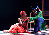 The Mad Hatter&rsquo;s Tea Party <br /> by Zoo Nation<br /> directed by Kate Prince<br /> presented by Zoo Nation, The Roundhouse &amp; The Royal Opera House<br /> at The Roundhouse, London, Great Britain <br /> rehearsal <br /> 29th December 2016 <br /> <br /> <br /> Issac Turbo Baptiste<br /> as the Mad Hatter <br /> <br /> Teneisha Bonner as The Queen of Hearts <br /> <br /> <br /> Photograph by Elliott Franks <br /> Image licensed to Elliott Franks Photography Services