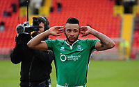 Lincoln City's Nathan Arnold celebrates at the end of the match<br /> <br /> Photographer Andrew Vaughan/CameraSport<br /> <br /> Vanarama National League - Gateshead v Lincoln City - Monday 17th April 2017 - Gateshead International Stadium - Gateshead <br /> <br /> World Copyright &copy; 2017 CameraSport. All rights reserved. 43 Linden Ave. Countesthorpe. Leicester. England. LE8 5PG - Tel: +44 (0) 116 277 4147 - admin@camerasport.com - www.camerasport.com