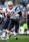 20 December 2009: New England Patriots' quarterback Tom Brady sets to hand off against the Buffalo Bills at Ralph Wilson Stadium in Orchard Park, New York. The Patriots defeated the Bills 17-10. Mandatory Credit: Ed Wolfstein Photo