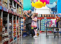 NWA Democrat-Gazette/JASON IVESTER<br /> Stuart and Barbara Drizner (cq) of Holiday Island shop Tuesday, April 18, 2017, at Sam's Club in Bentonville. Sam's Club is expanding private label of Member's Mark items.