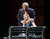 Rigoletto <br /> by Verdi <br /> English National Opera at the London Coliseum, London, Great Britain <br /> rehearsal <br /> 31st January 2017 <br /> <br /> <br /> <br /> Nicholas Pallesan as Rigoletto <br /> Sydney Mancasola as Gilda <br /> <br /> <br /> <br /> <br /> <br /> Photograph by Elliott Franks <br /> Image licensed to Elliott Franks Photography Services