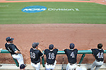 04 June 2016: Nova Southeastern's Casey Gibson (8), Matt Hardy (18), Joe DiBenedetto (16), Jacob Blackiston (4), and Matthew Schlabach (40). The Nova Southeastern University Sharks played the Millersville University Marauders in Game 14 of the 2016 NCAA Division II College World Series  at Coleman Field at the USA Baseball National Training Complex in Cary, North Carolina. Nova Southeastern won the game 8-6 and clinched the NCAA Division II Baseball Championship.