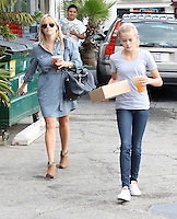 Reese Witherspoon and her daughter Ava in Brentwood - Los Angeles