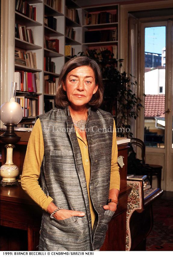 1999: BIANCA BECCALLI © Leonardo Cendamo