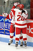 Dakota Woodworth (BU - 11), Isabel Menard (BU - 20) - The Boston University Terriers defeated the visiting Union College Dutchwomen 6-2 on Saturday, December 13, 2012, at Walter Brown Arena in Boston, Massachusetts.