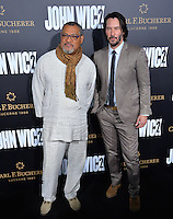 Keanu Reeves &amp; Laurence Fishburne at the premiere of &quot;John Wick Chapter Two&quot; at the Arclight Theatre, Hollywood. <br /> Los Angeles, USA 30th January  2017<br /> Picture: Paul Smith/Featureflash/SilverHub 0208 004 5359 sales@silverhubmedia.com