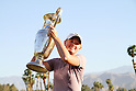 Stacy Lewis (USA),<br /> APRIL 3, 2011 - Golf :<br /> Stacy Lewis of USA celebrates with her trophy after winning the Kraft Nabisco Championship at Mission Hills Country Club in Rancho Mirage, California, USA. (Photo by Yasuhiro JJ Tanabe/AFLO)