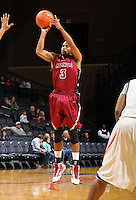 Nov 6, 2010; Charlottesville, VA, USA; Roanoke College g Corey Poindexter (3) shoots the ball Saturday afternoon in exhibition action at John Paul Jones Arena. The Virginia men's basketball team recorded an 82-50 victory over Roanoke College.