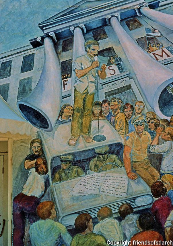 Berkeley CA:  Berkeley Mural 1, Telegraph & Haste.  Photo '78.