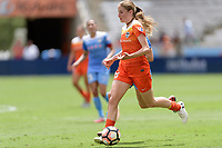 Houston, TX - Saturday April 15, 2017: Janine Beckie brings the ball up the field during a regular season National Women's Soccer League (NWSL) match won by the Houston Dash 2-0 over the Chicago Red Stars at BBVA Compass Stadium.