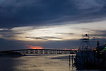 The Marler Bridge at sunset in Destin, Florida.  The bridge is named for one of the area's founding families, the Marlers.