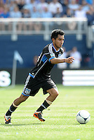 San Jose midfielder Rafael Baca (30) in action... Sporting Kansas City defeated San Jose Earthquakes 2-1 at LIVESTRONG Sporting Park, Kansas City, Kansas.
