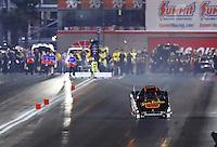 Oct 28, 2016; Las Vegas, NV, USA; NHRA top alcohol funny car driver Stefan Kontos during qualifying for the Toyota Nationals at The Strip at Las Vegas Motor Speedway. Mandatory Credit: Mark J. Rebilas-USA TODAY Sports