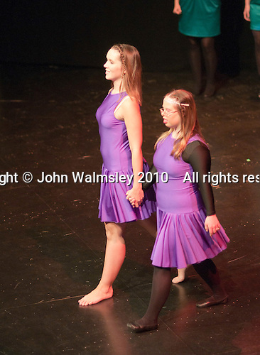 "Katherine Morland and choreographer, Hannah Greenslade, dancing to ""The Flame of Hope"".  Special Olympics Surrey put on a show,   ""Beyond the Stars"", at the Rose Theatre, Kingston upon Thames to raise money for the  SOGB team.  The Special Olympics are for athletes with learning disabilities."