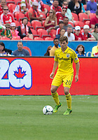 July 20, 2013: Columbus Crew midfielder Wil Trapp #20 in action during a game between Toronto FC and the Columbus Crew at BMO Field in Toronto, Ontario Canada.<br /> Toronto FC won 2-1.