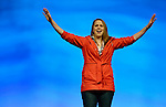 Meghan Waddle speaks during an April 26, 2014, worship service at the United Methodist Women's Assembly in the Kentucky International Convention Center in Louisville, Kentucky. More than 6,500 members of United Methodist Women gathered for the quadrennial event.