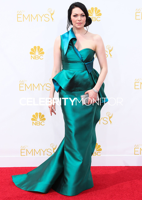 LOS ANGELES, CA, USA - AUGUST 25: Actress Laura Prepon arrives at the 66th Annual Primetime Emmy Awards held at Nokia Theatre L.A. Live on August 25, 2014 in Los Angeles, California, United States. (Photo by Celebrity Monitor)