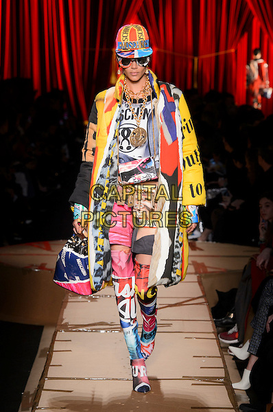 MOSCHINO<br /> at Milan Fashion Week FW 17 18<br /> in Milan, Italy  February 2017.<br /> CAP/GOL<br /> &copy;GOL/Capital Pictures
