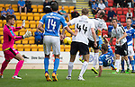 St Johnstone v Falkirk&hellip;23.07.16  McDiarmid Park, Perth. Betfred Cup<br />Steven MacLean&rsquo;s overhead kick that lead to the third goal<br />Picture by Graeme Hart.<br />Copyright Perthshire Picture Agency<br />Tel: 01738 623350  Mobile: 07990 594431