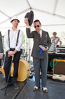 The winner of the best dressed man at the The 2012 Historic Houses Trust of NSW annual Fifties Fair at Rose Seidler House, Sydney. Picture James Horan