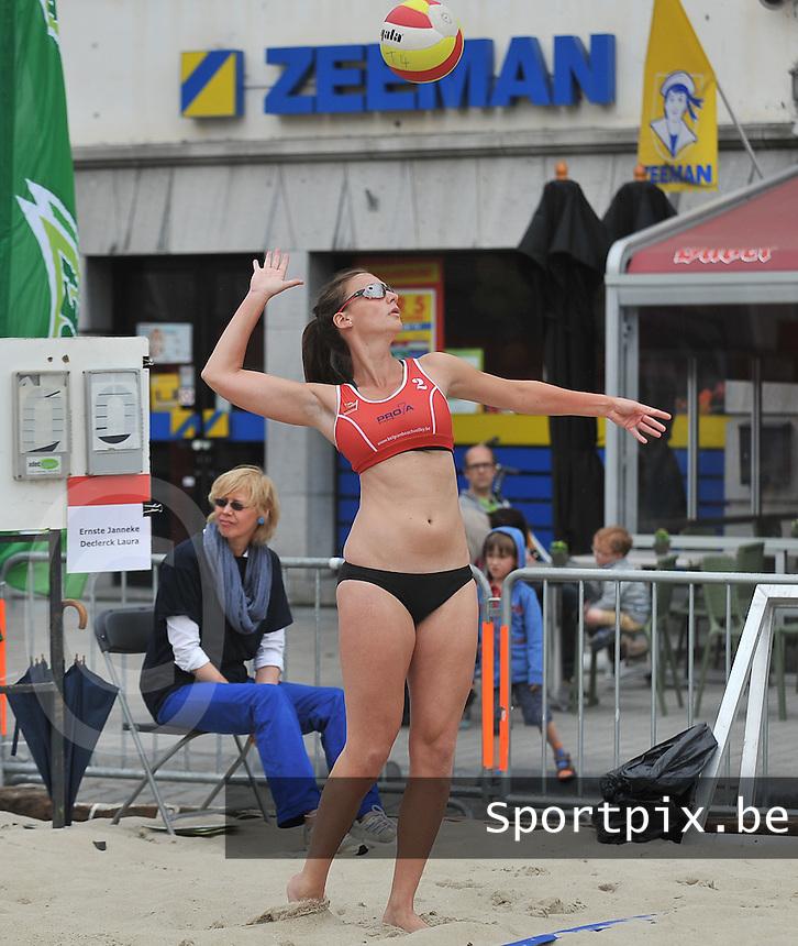 Belgian Beachvolley Tour Kortrijk : Laura Declerck<br /> foto VDB / Bart Vandenbroucke
