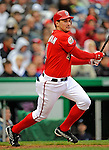 13 April 2008: Washington Nationals' third baseman Ryan Zimmerman in action against the Atlanta Braves at Nationals Park, in Washington, DC. The Nationals ended their 9-game losing streak by defeating the Braves 5-4 in the last game of their 3-game series...Mandatory Photo Credit: Ed Wolfstein Photo