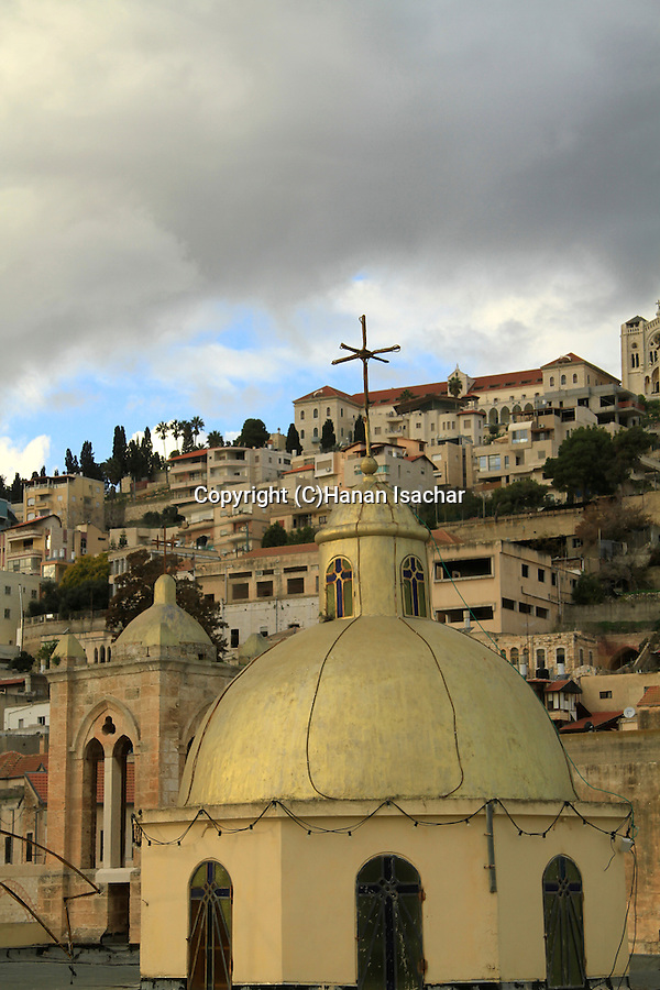 Israel, Nazareth, the dome of the Greek Catholic Church