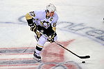 3 February 2009: Pittsburgh Penguins' center and Team Captain Sidney Crosby brings the puck across center ice in a rush against the Montreal Canadiens at the Bell Centre in Montreal, Quebec, Canada. The Canadiens defeated the Penguins 4-2. ***** Editorial Sales Only ***** Mandatory Photo Credit: Ed Wolfstein Photo