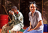 Liberian Girl <br /> at the Royal Court Theatre, London, Great Britain <br /> press photocall<br /> 9th January 2015 <br /> <br /> Juma Sharkah as Martha / Frisky <br /> <br /> Weruche Opia as Finda<br /> <br /> <br /> Photograph by Elliott Franks <br /> Image licensed to Elliott Franks Photography Services