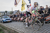 Andr&eacute; Greipel (DEU/Lotto-Soudal) up the final ascent of the Paterberg<br /> <br /> 101th Ronde Van Vlaanderen 2017 (1.UWT)<br /> 1day race: Antwerp &rsaquo; Oudenaarde - BEL (260km)