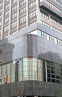 George Howe & Wm. Lescaze: PSFS Building. Detail.  Photo '85.