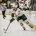 10 February 2017: University of Vermont Catamount Forward Matt Alvaro, a Freshman from Toronto, Ontario, in second period action against the University of New Hampshire Wildcats at Gutterson Fieldhouse in Burlington, Vermont. The Catamounts fell to the Wildcats 4-2 in the first game of their 2-game Hockey East Series. Mandatory Credit: Ed Wolfstein Photo *** RAW (NEF) Image File Available ***