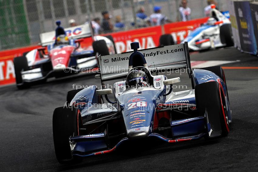 Marco Andretti (#26), Mike Conway (#14) and Josef Newgarden (#67)