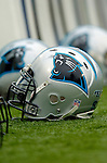Carolina Panthers helmets on the sidelines during a game against the Buffalo Bills on November 27, 2005 at Ralph Wilson Stadium in Orchard Park, NY. The Panthers defeated the Bills 13-9. Mandatory Photo Credit: Ed Wolfstein