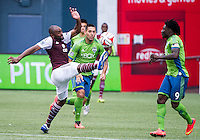 August 30, 2014 - Seattle, Washington: Seattle Sounders FC defeated the Colorado Rapids 1-0 in Major League Soccer action at CenturyLink Field.